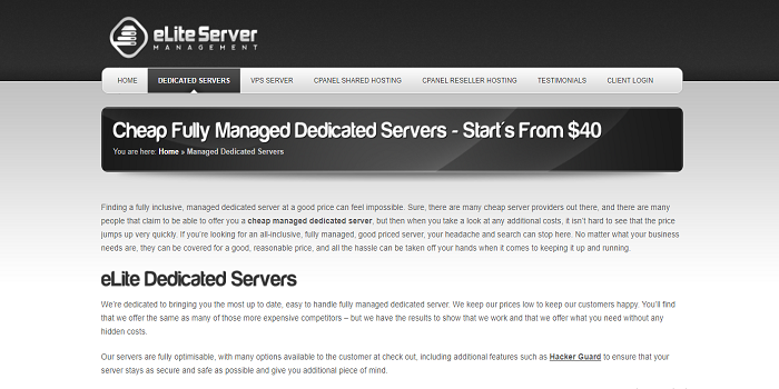 affordable dedicated servers